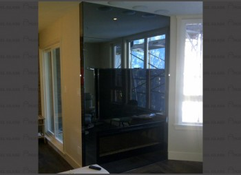 High-end Residential Black Glass Wall & Mirror