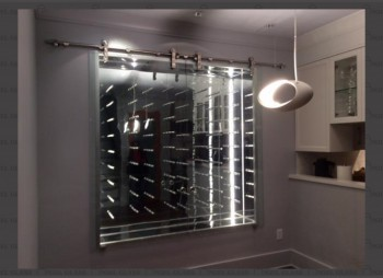 The Hunts – Custom Wine Case Sliding Door