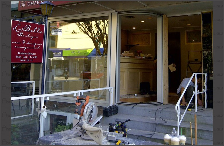 Kerrisdale Dental Centre - Glass Wall - Entrance Door