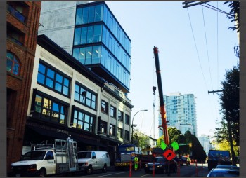 Commercial Building Downtown Vancouver – Interior Glass Walls, Door & Windows