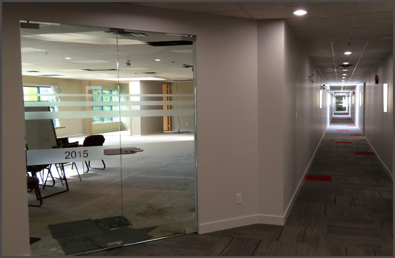 Interior office glass wall and doors angel glass Commercial interior doors for offices
