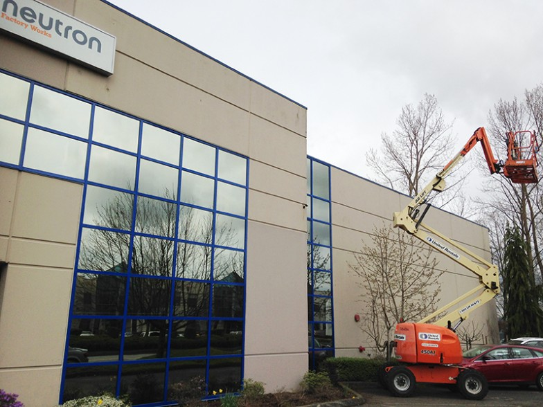 Commercial Curtain Wall Reflective Glass Window Restoration