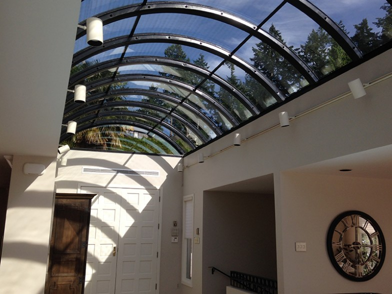 Curved Glass Skylight System Custom Designed Built And