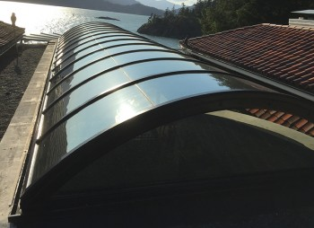 Curved Glass Skylight System – Custom Designed, Built and Installed