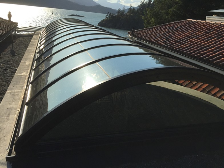 Curved Glass Skylight System - Custom Designed, Built and Installed