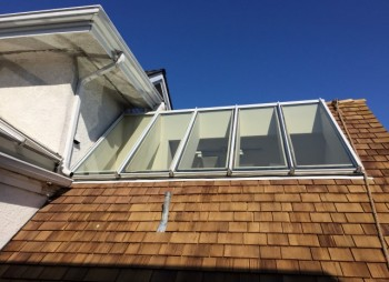 Residential Glass Skylight Replacement for Townhouse
