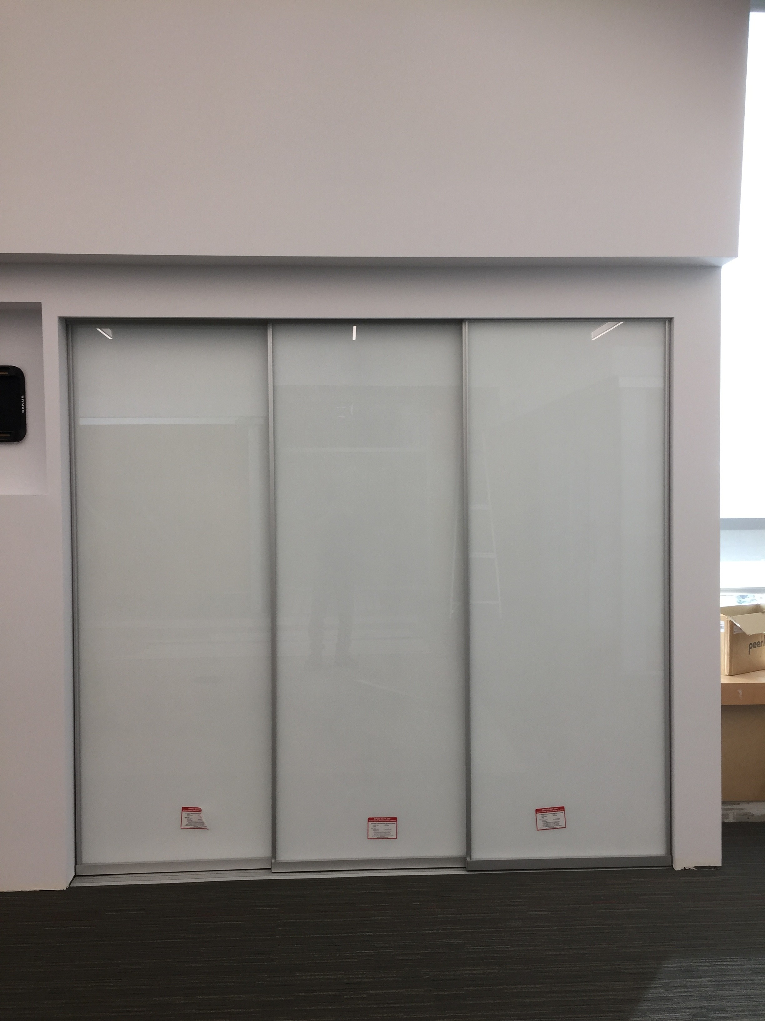 Interior office glass walls sliding glass doors curtain for Glass walls and doors
