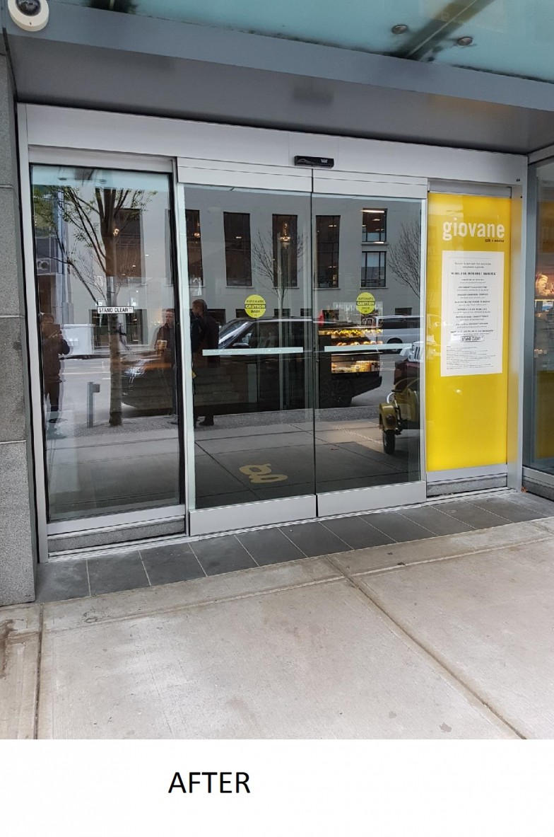Giovani area sliding glass entry door system